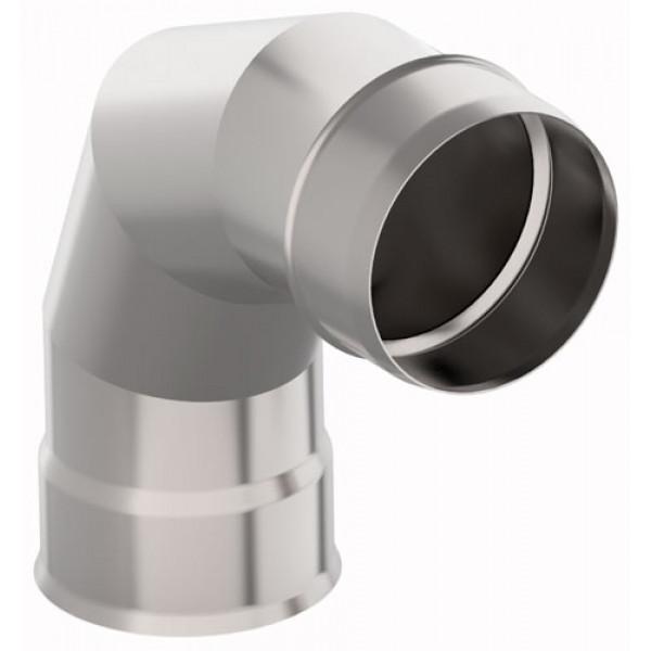 Дымоход УМК Отвод 90° D115, 0,5мм, нержавейка (УМК)