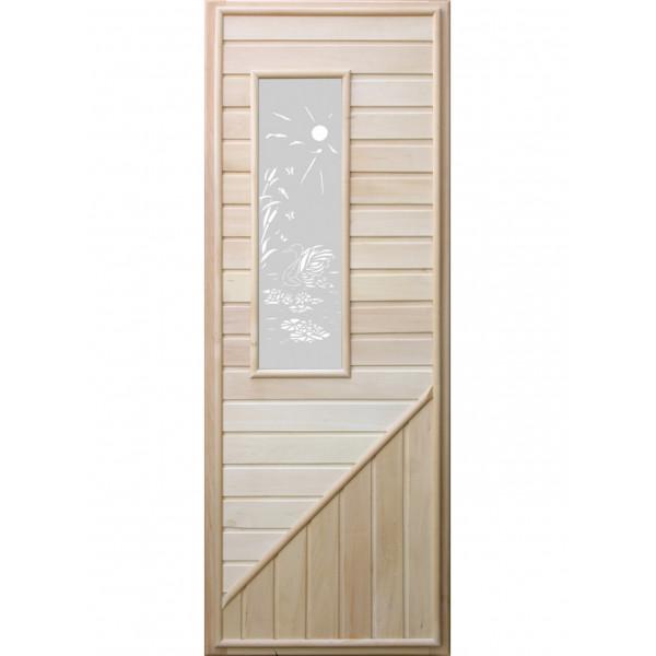 Дверь с прямоугольной стеклянной вставкой