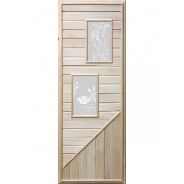 Дверь с двумя прямоугольными вставками