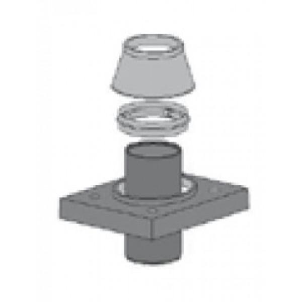 Верхний комплект под отделку 2 с вентиляцией D140 (Schiedel UNI)