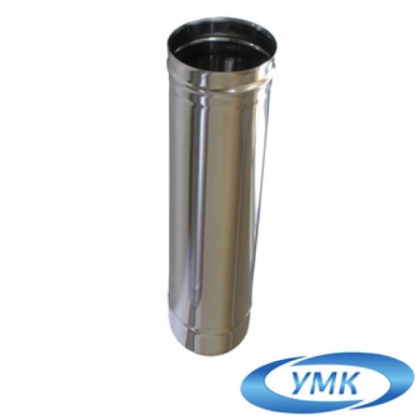 Дымоход УМК Труба D115, L=0,5 м, 0,5 мм. нержавейка (УМК)