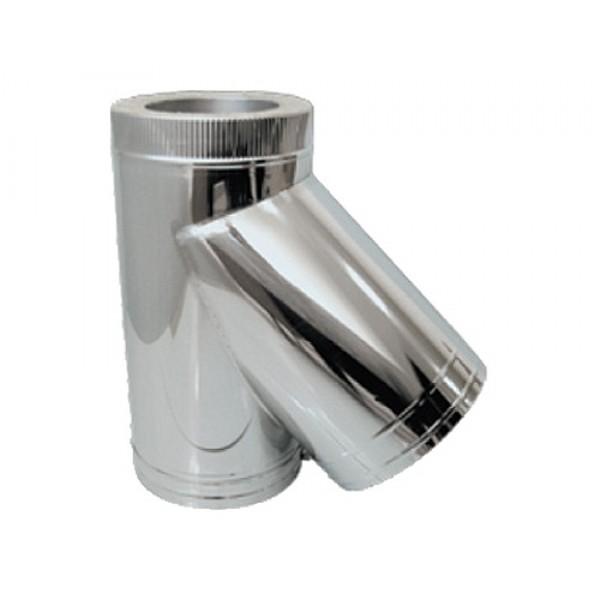 Дымоход УМК Сэндвич-тройник 135°, D115х200, Н+Н, 0,5 мм, 0,5 мм., по воде (УМК)