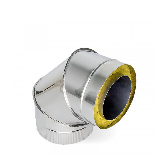 Дымоход УМК Сэндвич-отвод 90°, D115х200, Н+Н, 0.5мм, 0.5мм, по воде (УМК)