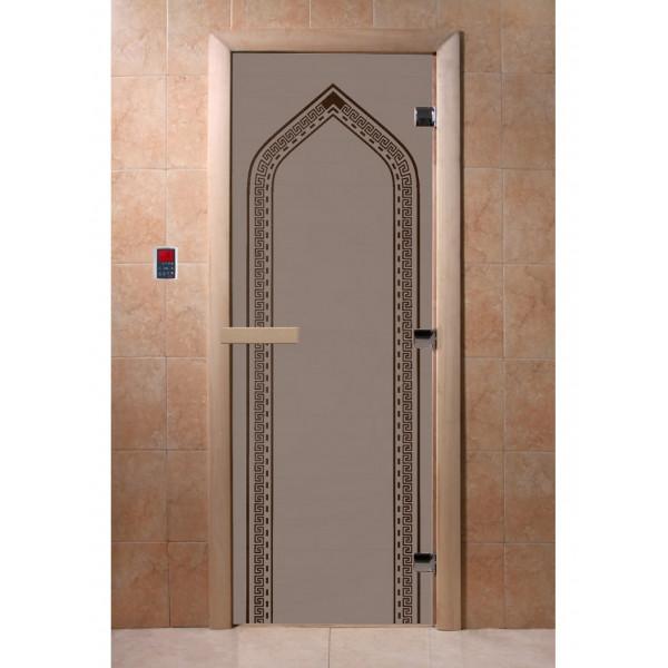 Дверь Арка черный жемчуг матовая