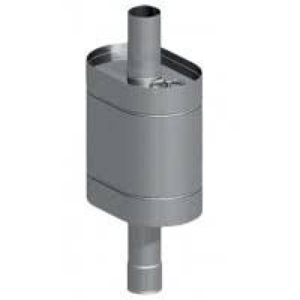 Бак нержавейка на трубе 80л д.115 (Овальный) (AISI 439)