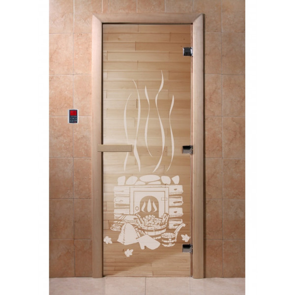 Дверь Банька прозрачная