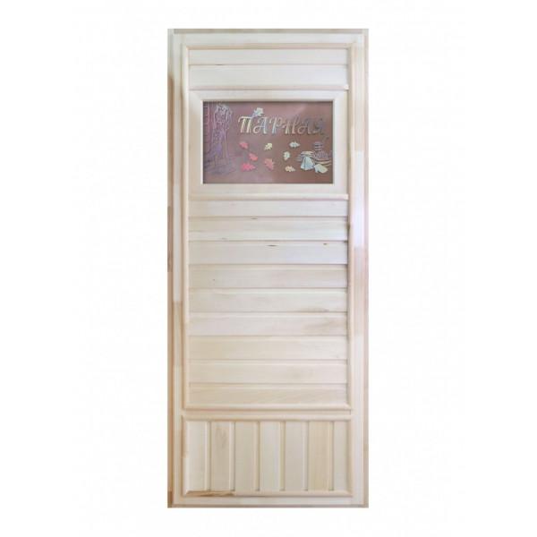 Дверь Вагонка со стеклом Дженифер
