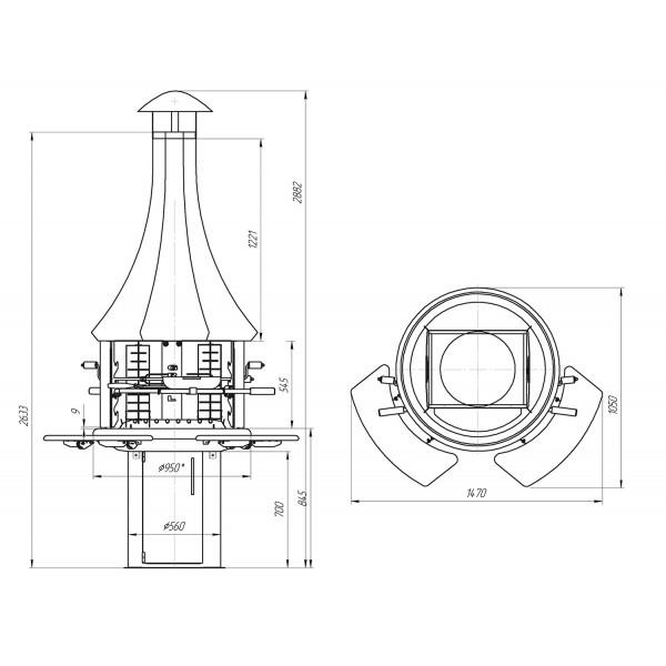 Гриль мангал барбекю GRILL - 120