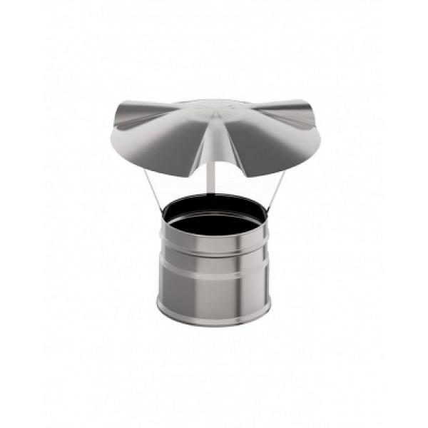 Дымоход УМК Зонт D115 0,5 мм. нержавейка (УМК)