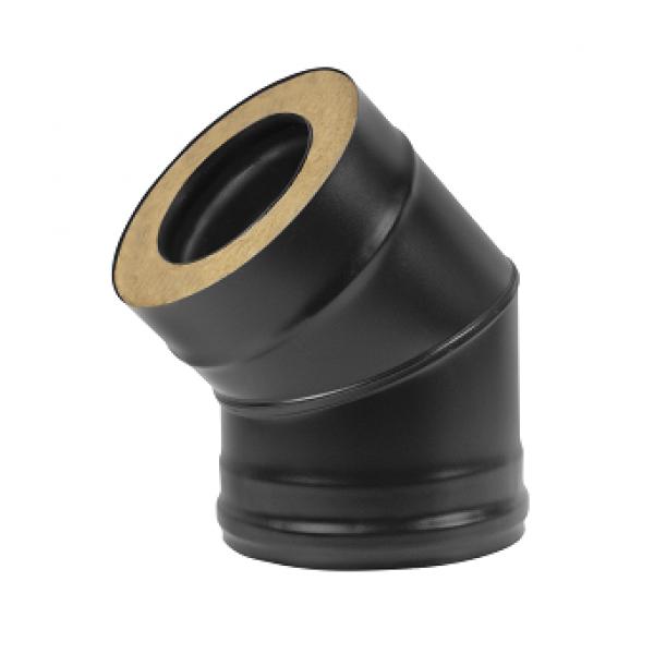 Сэндвич-колено BLACK (AISI 430/0,8мм) 45* 2 секции D115 (Везувий)