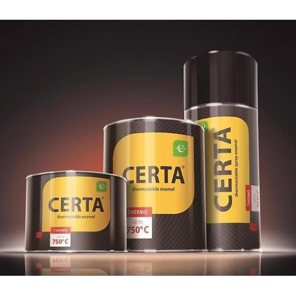 Краска термостойкая аэрозоль (до 950°С, 520 мл) CERTA