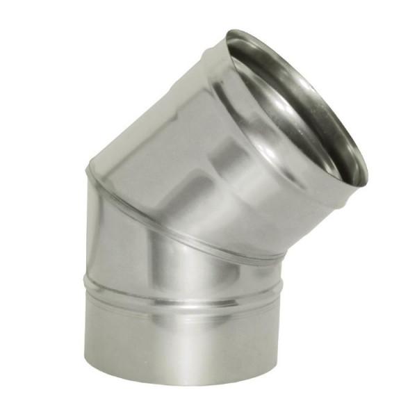 Дымоход УМК Отвод 135°, D115, 0,5мм, нержавейка (УМК)