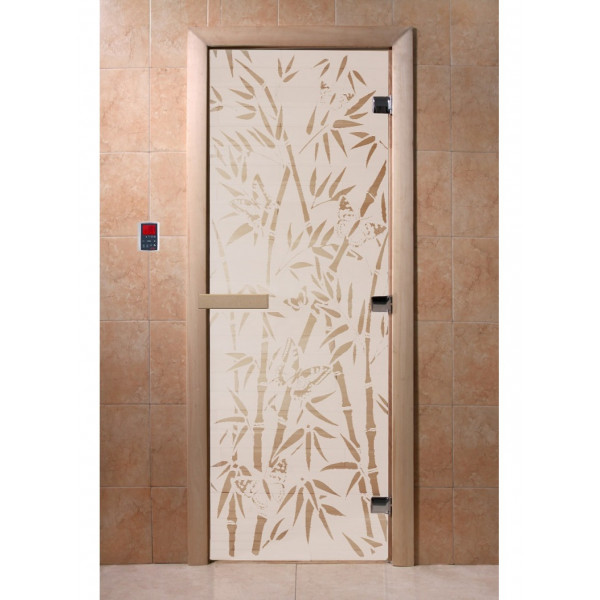 Дверь Бамбук и бабочки сатин