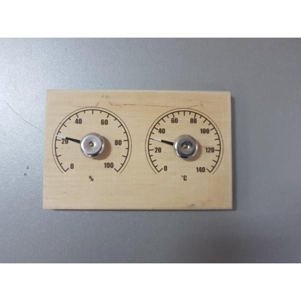 """Термометр для сауны СБО-2тг банная станция+гигрометр """"прямоугольная"""""""