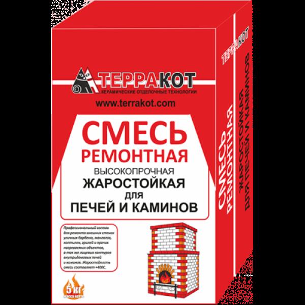 """Смесь ремонтная """"Терракот"""" жаростойкая, 5 кг"""