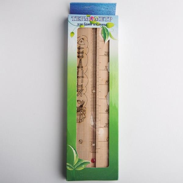 """Термометр для сауны большой ТСС-4 """"Sauna"""" (в коробке)"""